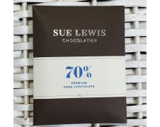 Sue Lewis Bar 70% Premium Dark Chocolate 50g