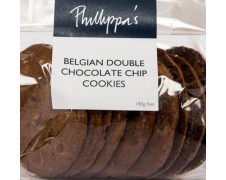 Phillippa's Belgian Double Chocolate Chip Cookies 180g